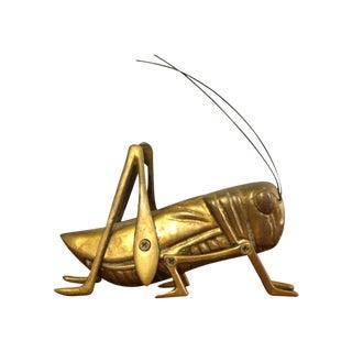 Brass Grasshopper Paperweight
