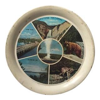 Vintage Yellowstone Souvenir Tin Plate