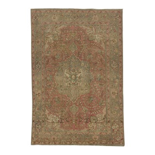 Vintage Persian Washed Out Rug- 6′6″ × 9′9″