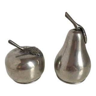 Pewter Apple and Pear Salt & Pepper Shakers