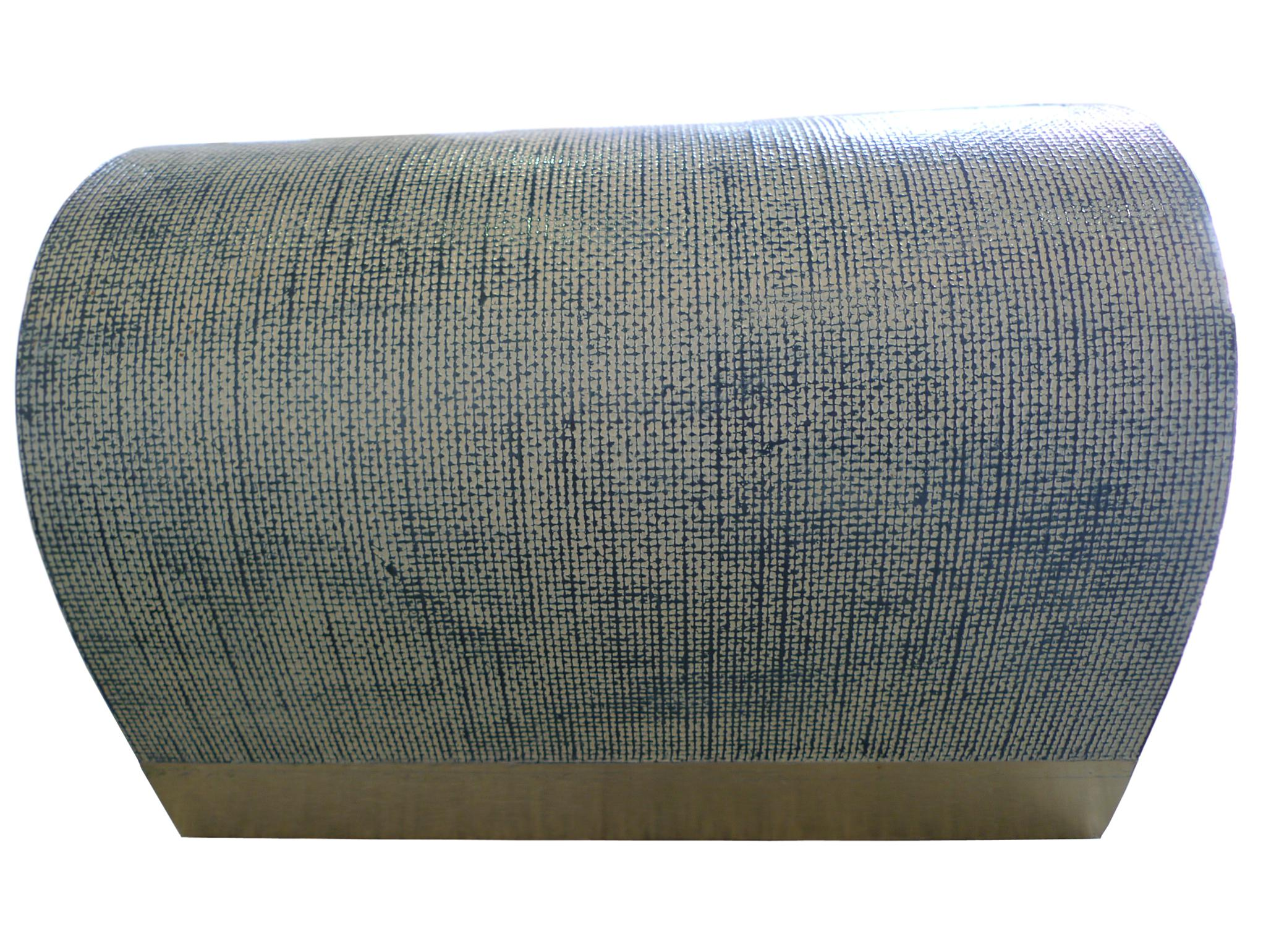 Mid Century Karl Springer Style Linen Wrapped Coffee Table   Image 5 Of