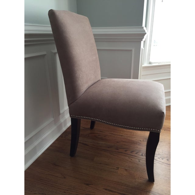 Lee Industries Upholstered Dining Chairs With Accent Fabric on Back - Set of 4 - Image 7 of 12