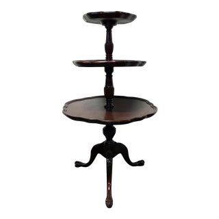 Vintage Mersman 3-Tier Mahogany Table