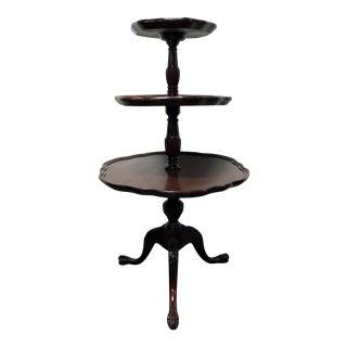 Vintage Mersman 3-Tier Mahogany Table
