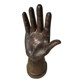 Vintage Whimsical Cast Iron Hand