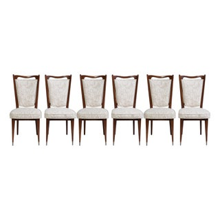 Mid-Century Upholstered Dining Chairs - Set of 6