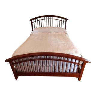 Thomasville Queen Size Cherry Wood Bed Frame