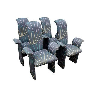 Memphis Style Dining Chairs - Set of 4