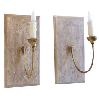 Pair of Large 19th Century Gilt Iron Sconces