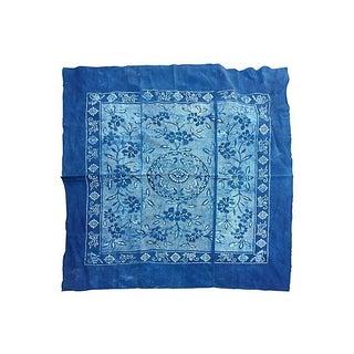 Vintage Indigo Batik Panel