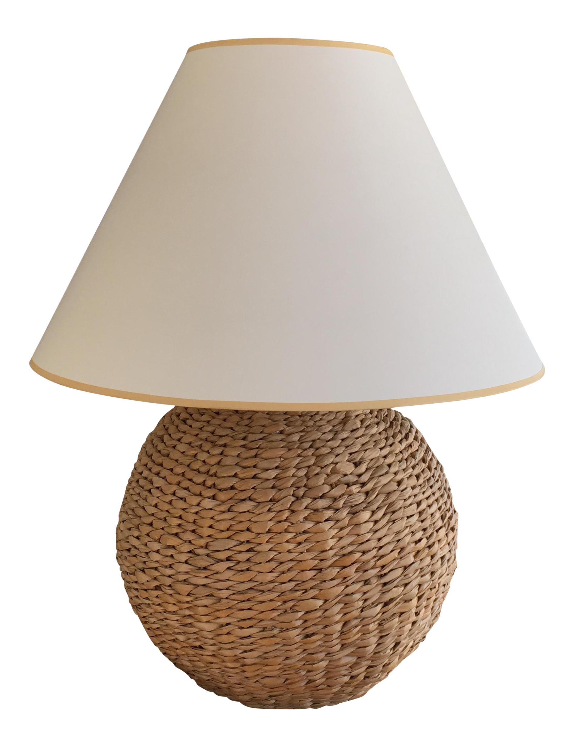 Good Ethan Allen Seagrass Table Lamp
