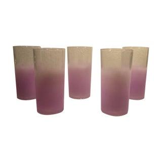 Vintage Lavender Blendo Tumblers - Set of 5
