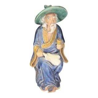 Antique Chinese Mudman Scholar Figurine