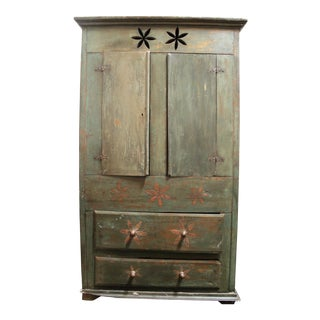 Vintage Distressed Brazilian Armoire