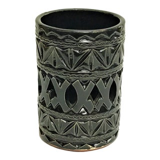 Moroccan Hand Painted Ceramic Tealight Cup Holder