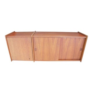 Mid-Century Teak Floating Wall Cabinet
