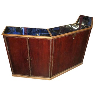 Art Deco Standing Bar with Blue Mirrored Top