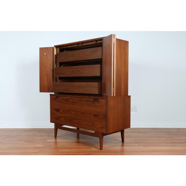 Highboy Dresser by American of Martinsville - Image 4 of 9