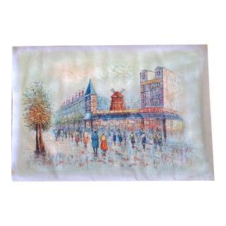 Parisian Scene Painting on Canvas