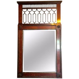 Vintage French Empire Mahogany Mirror