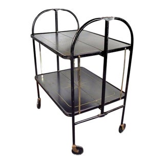Vintage Mid-Century Folding Bar Cart