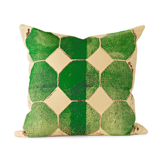 Green Octagon Throw Pillow - Image 1 of 4