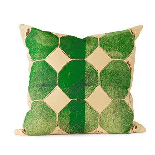 Green Octagon Throw Pillow