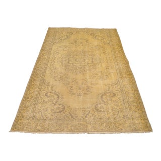 Persian Gold Tabriz Rug - 5′11″ × 9′5″