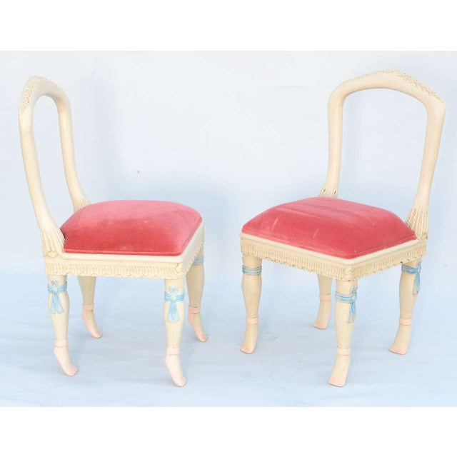 Set of Four Ballerina Side Chairs - Image 3 of 10