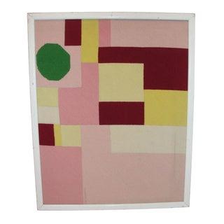 1970's Needlepoint Geometric Art Work