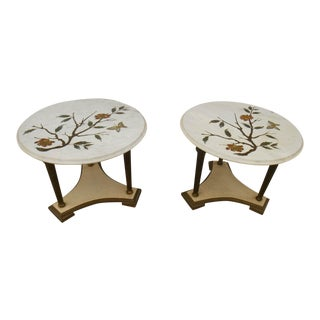 Mid-Century Hollywood Regency End Tables - A Pair