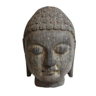 Black Stone Buddha Head