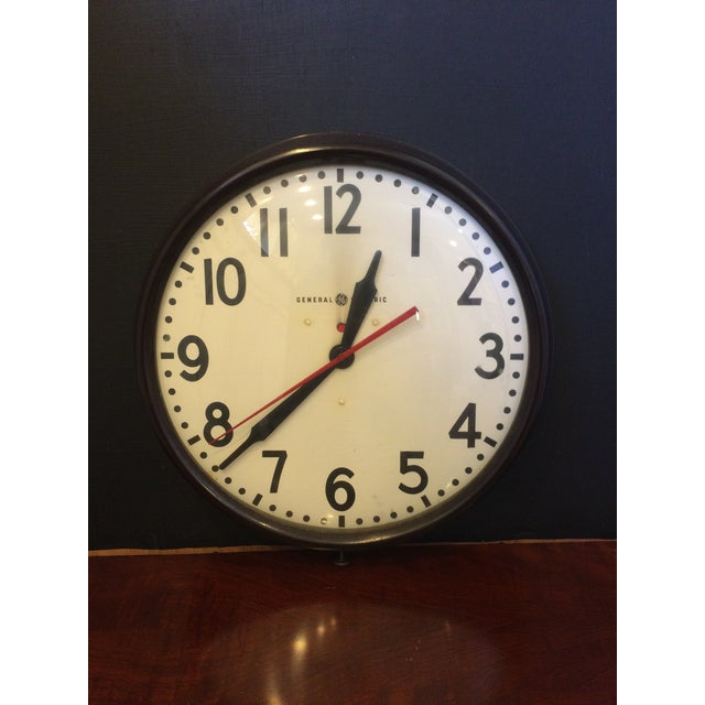 Image of Vintage General Electric Industrial Wall Clock