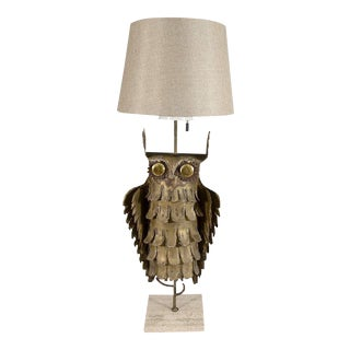 Curtis Jere Abstract Brutalist Owl Table Lamp
