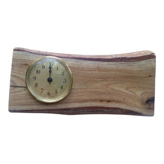 Handcrafted Wood Log Clock