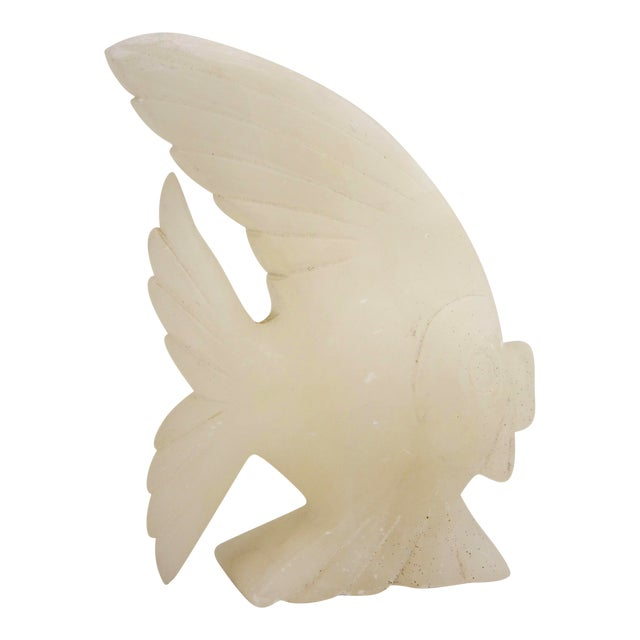 Image of Carved Italian Marble Fish Sculpture