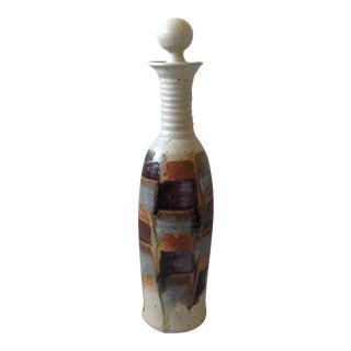 Neutral Tone Studio Pottery Bottle