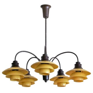 Poul Henningsen Five-Arm Chandelier