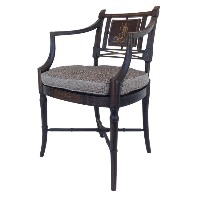 Maison Jansen Hand-Painted Regency Chair - Image 1 of 11