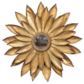 Gilt Metal Sunburst Mirror