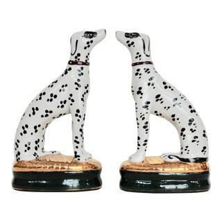 Seated Ceramic Dalmatians - A Pair