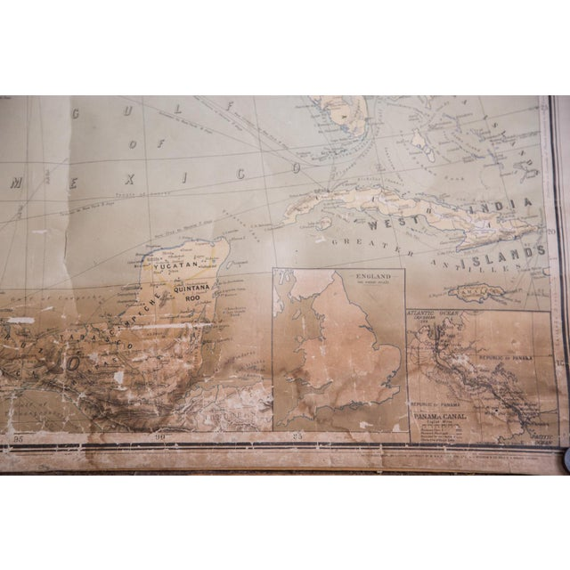 USA & Mexico Antique Pull Down Map - Image 7 of 10