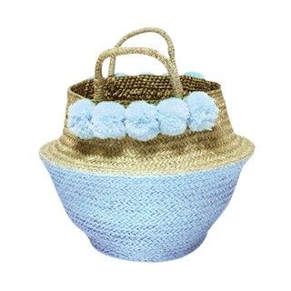 Balinese Blue Woven Basket