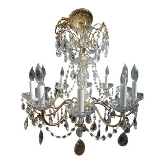 French Style 10-Light Crystal Beaded Chandelier