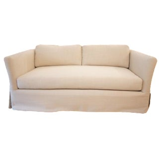 Custom Reupholstered Flair Arm Loveseat