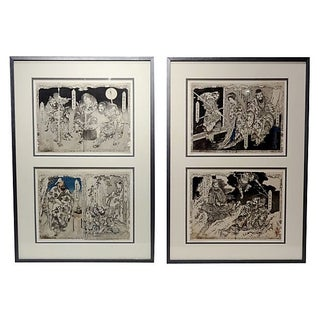 19th Century Japanese Woodblock Prints - Pair