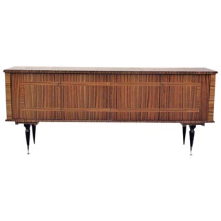 1940s Vintage French Art Deco Macassar Ebony Sideboard