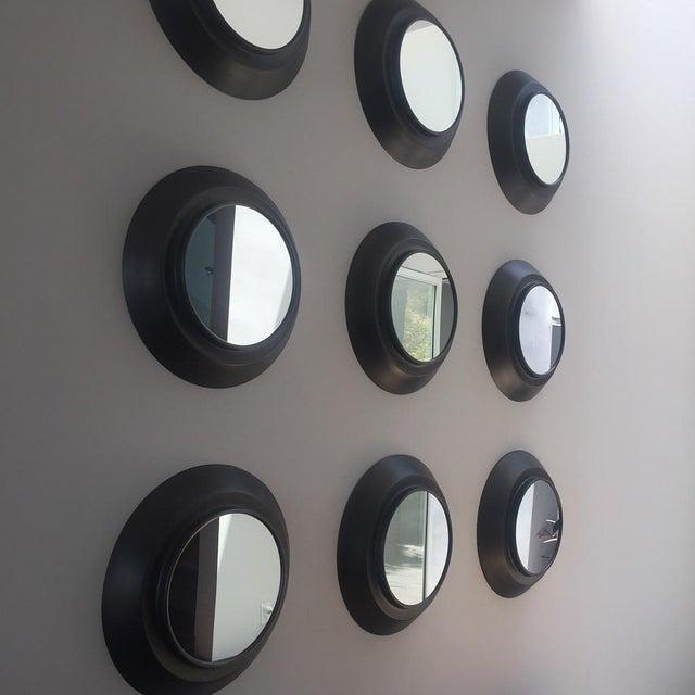 Industrial Circular Metal Wall Mirrors- Set of 9 - Image 4 of 6