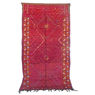 "Vintage Beni MGuild Moroccan Berber Rug - 6'2"" X 10'11"""