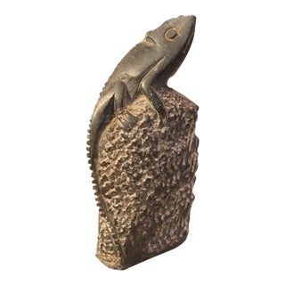 Stone Lizard Figurine